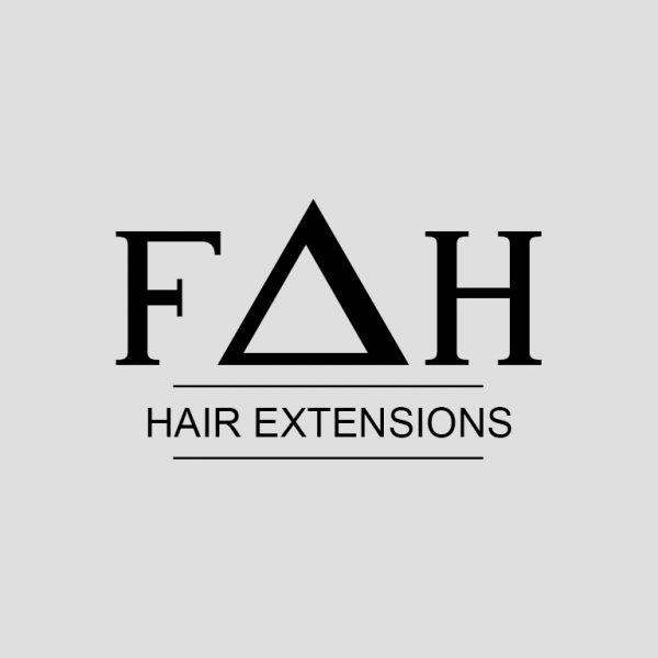 Logo Design for Hair Extension Company FAH Hair Extensions, A Richmond Hill based Hair Extension Company