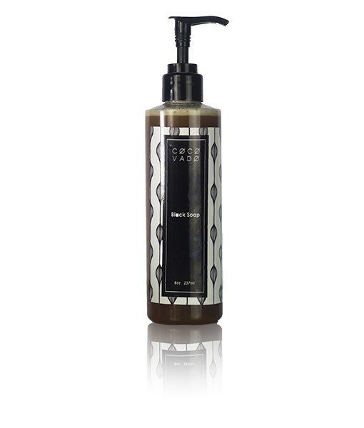 NOYADESIGNS' Skincare Product Photography Service for Green Beauty Brand COCOVADO - 8oz Liquid Black Soap