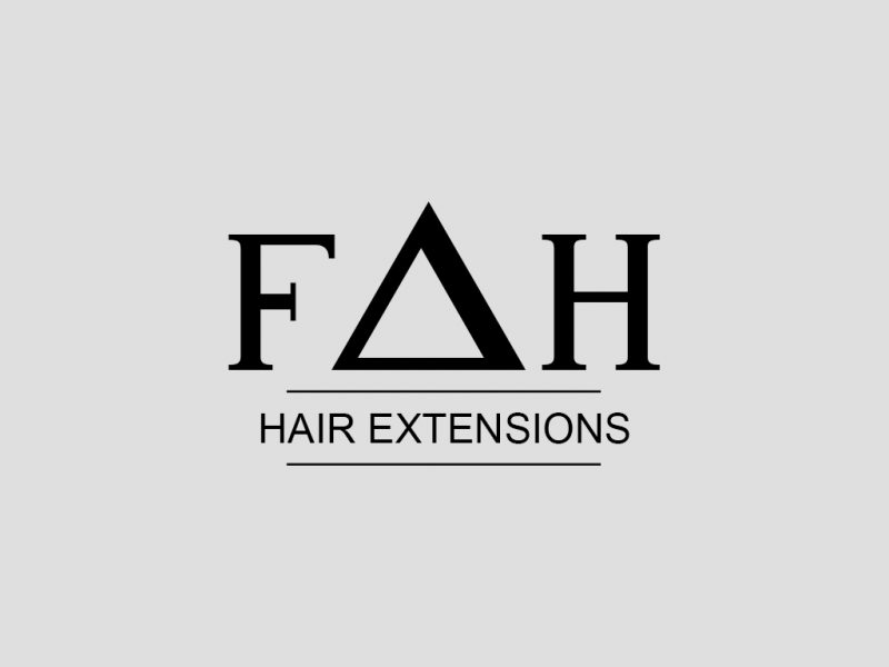 Logo Design for Hair Extension Company FAH Hair Extensions, A Richmond Hill based Hair Extension Company
