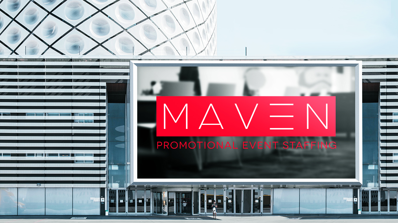 Logo Design for Maven Promotional Services, a Toronto Event Staffing Firm
