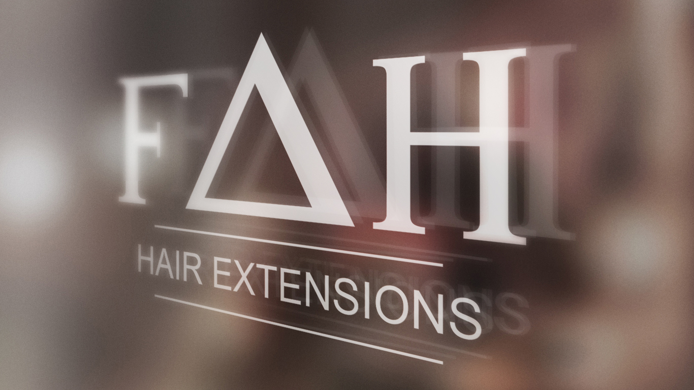 logo design for richmond hill hair extension company