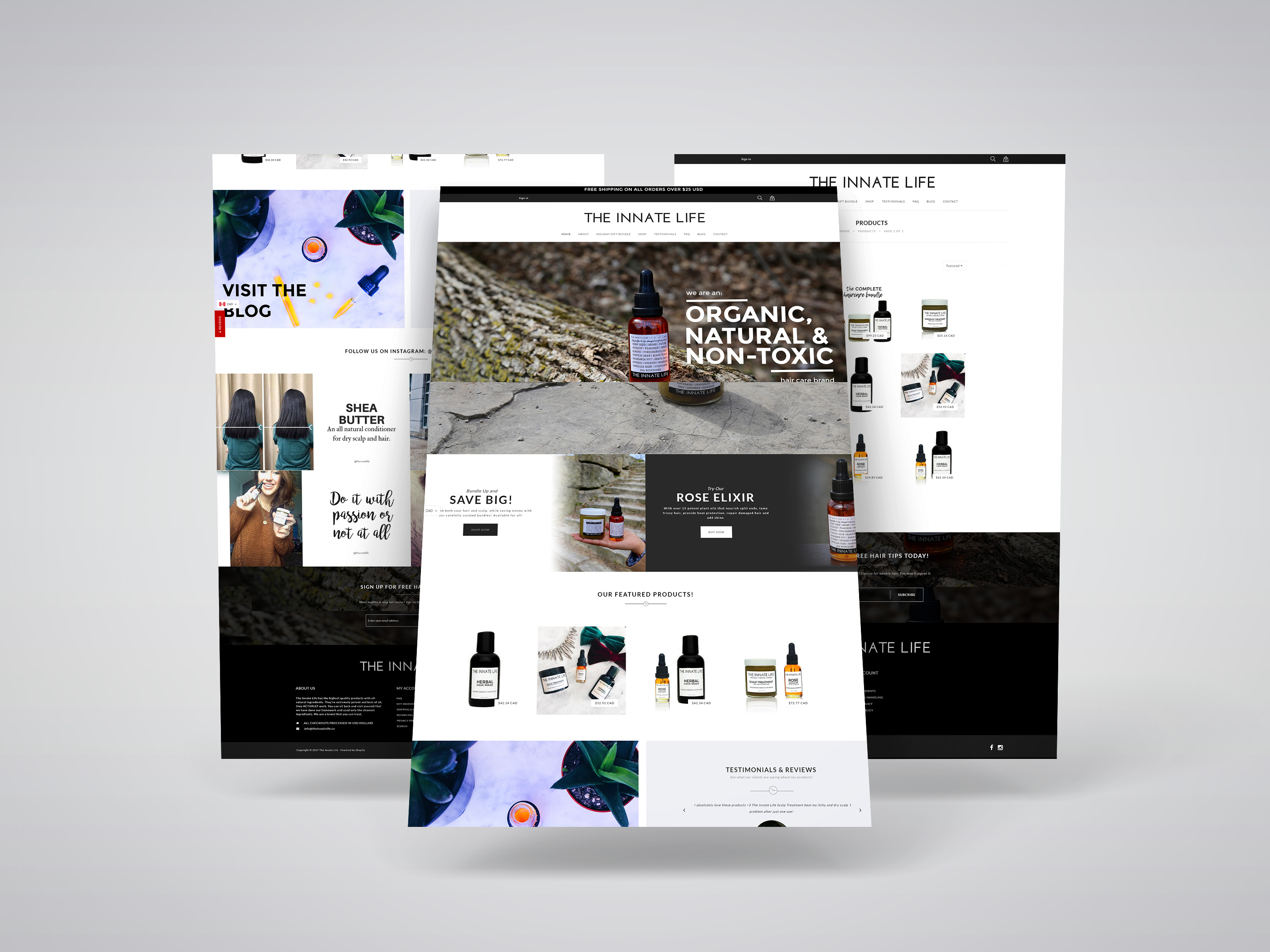 The Innate Life Shopify Website Re-Design