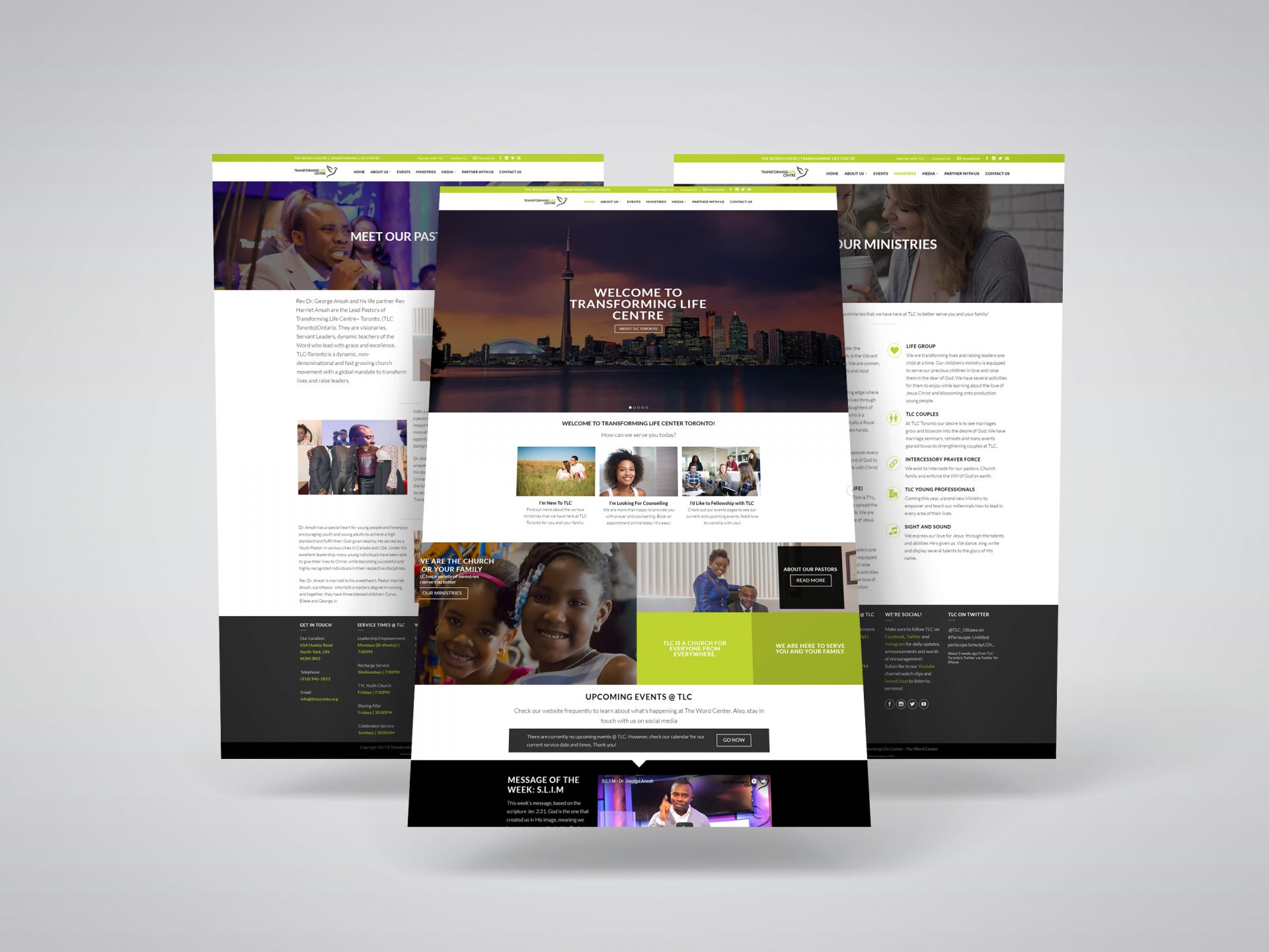 Church Website Re-Design for Transforming Life Centre, The Word Centre, a Toronto-based Church