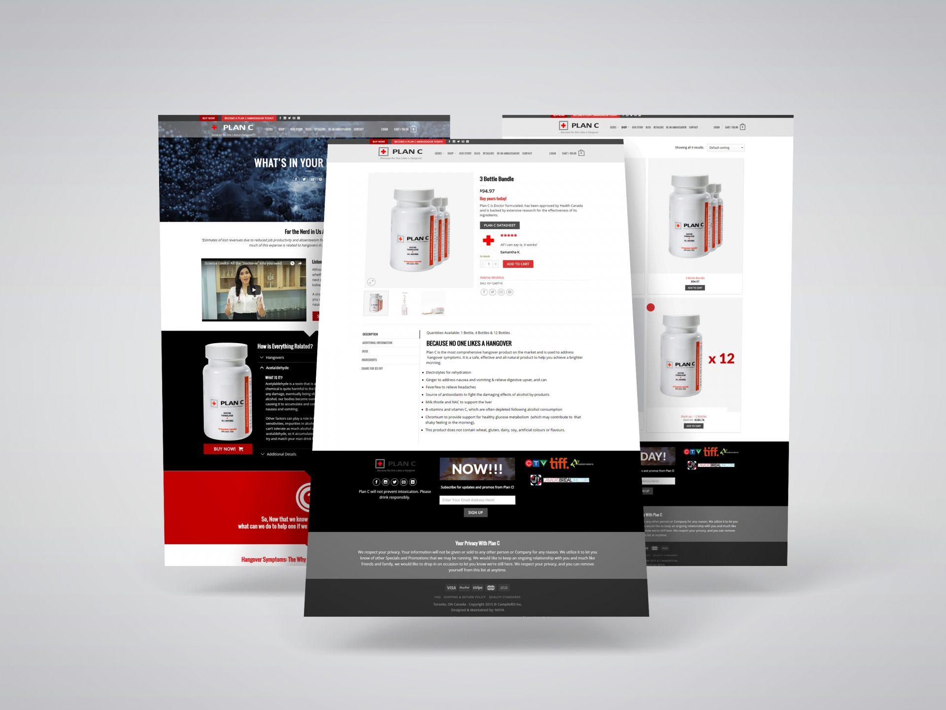 Plan C Wellness eCommerce Website