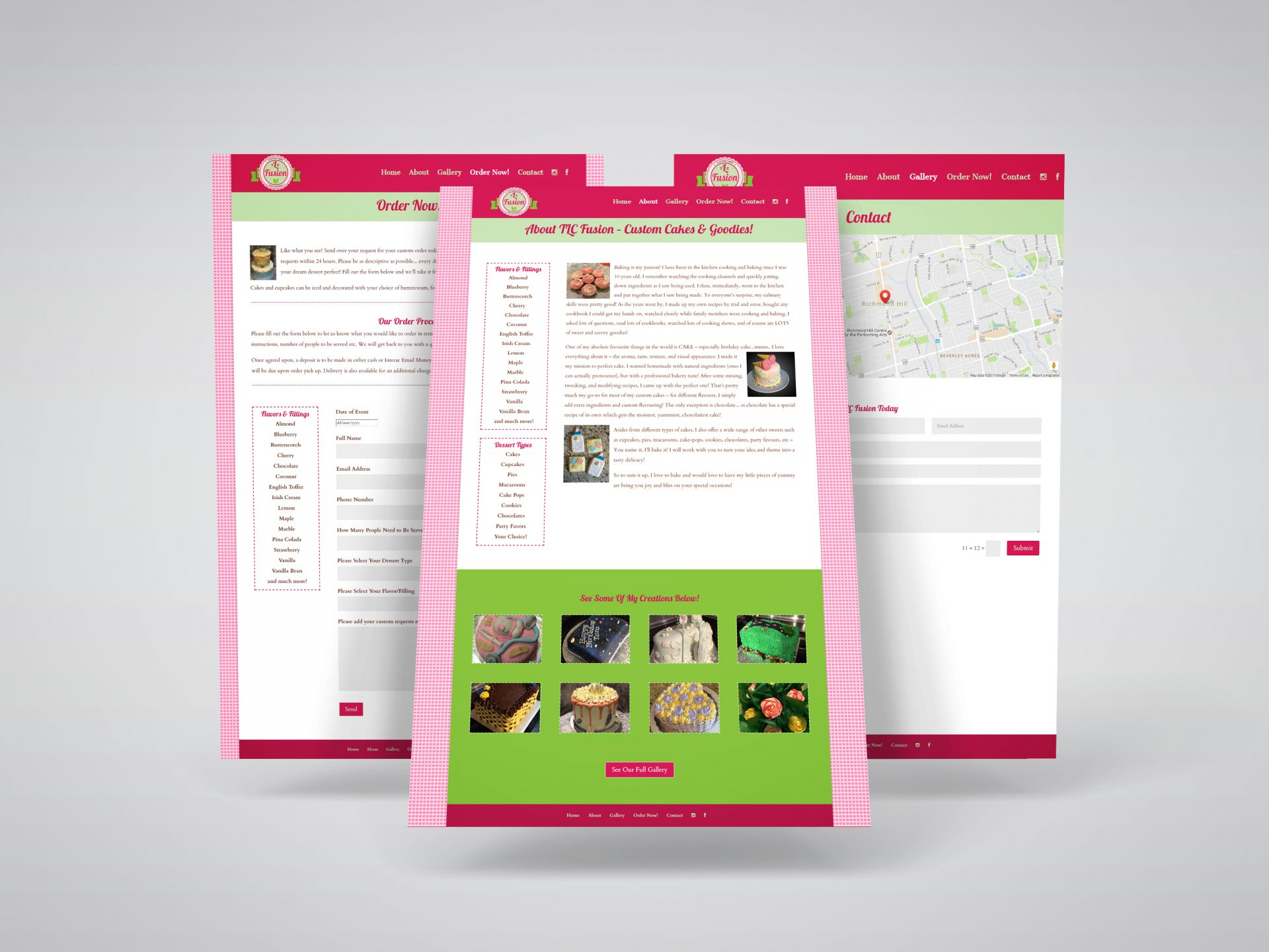 TLC Fusion Edibles & Bakery Web Design Project