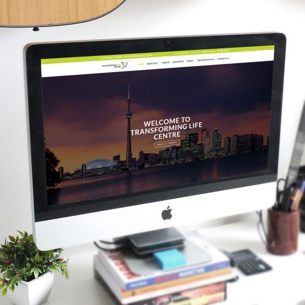 Church Website Re-Design for Transforming Life Centre, The Word Centre, a Toronto-based Church