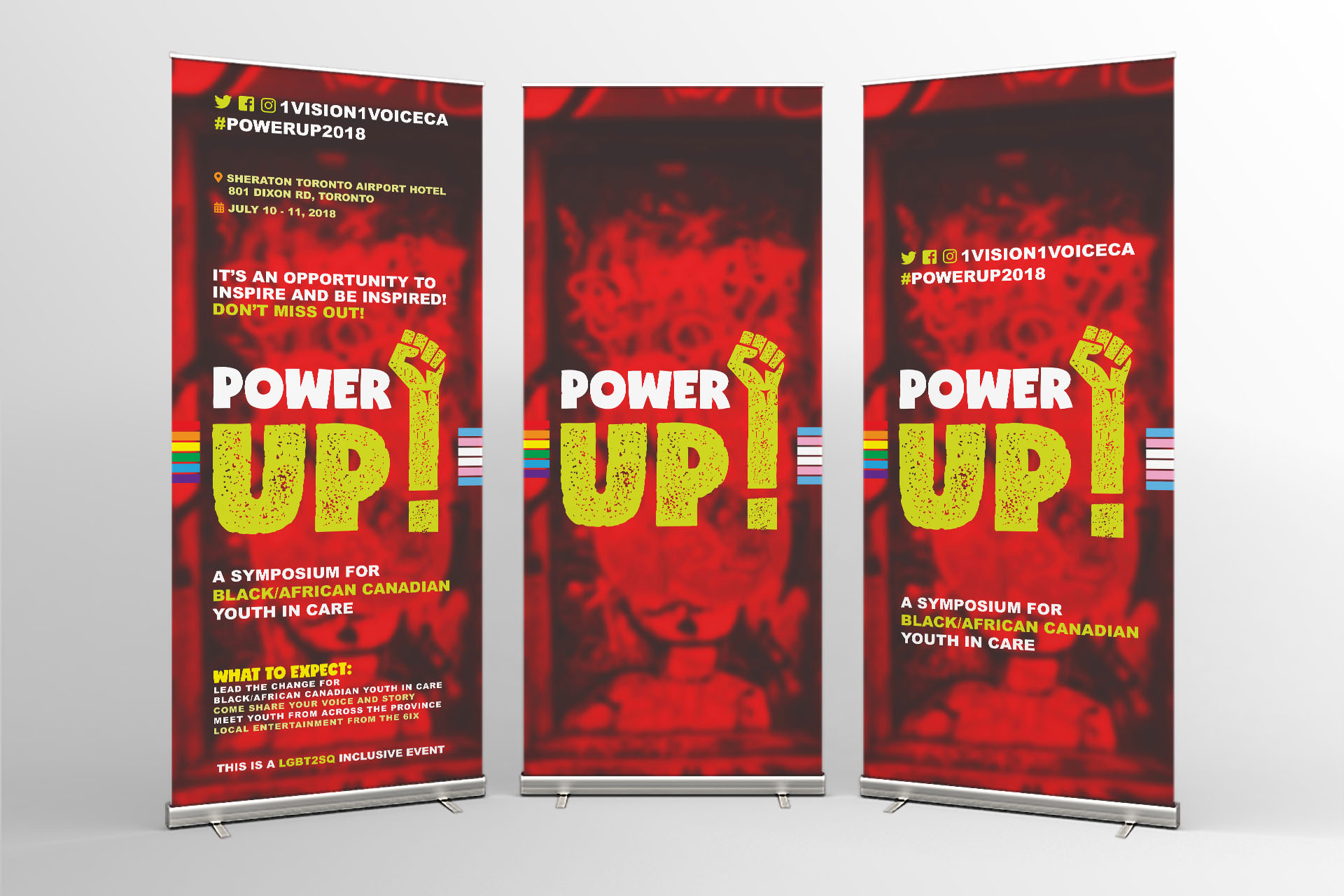 Event Campaign Branding Power Up - Rollup Banner